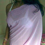 transparent saree girls