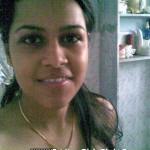 indian girl inside bathroom