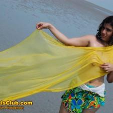 6a indian girl beach sexy