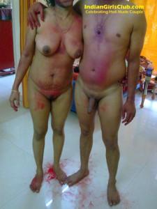 indian couple nude holi celebrations