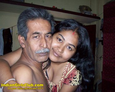 young lady with old man