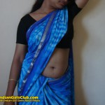 South Indian Girl's Saree Navel Photo