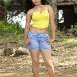Indian Girl Standing in Tight Shorts