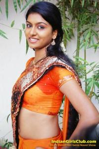 4 sexy saree belly button