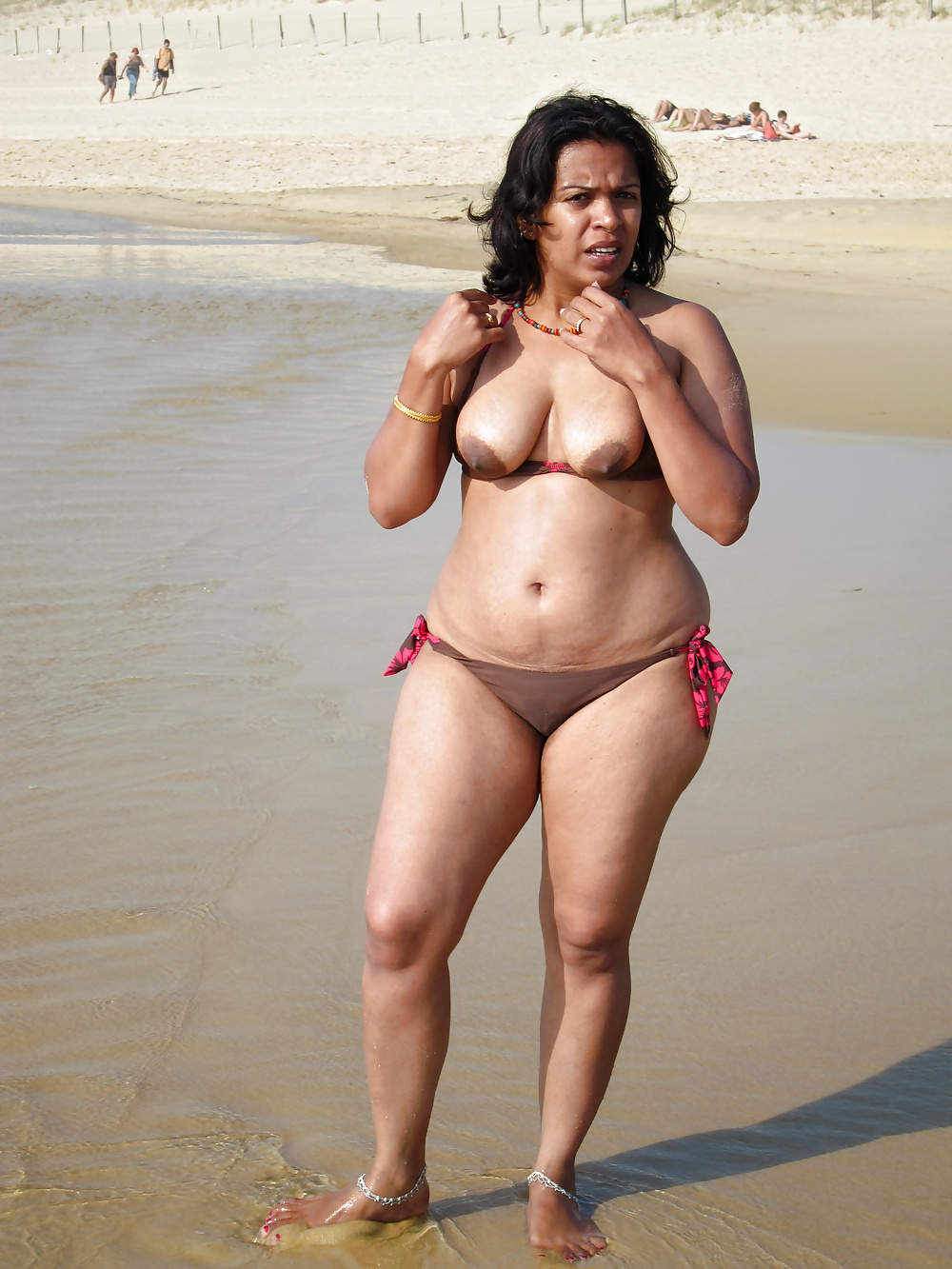 beach Indian on nude