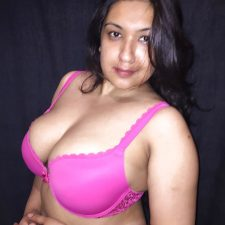 Sexy Indian Aunty Red Lingerie Nude XXX Photos 9