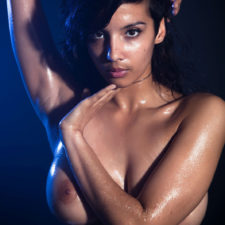 Indian XXX Photos Nude Indian Girl Shanaya Oily Boobs 5
