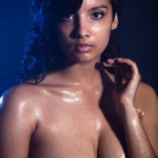 Indian XXX Photos Nude Indian Girl Shanaya Oily Boobs 15