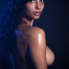 Indian XXX Photos Nude Indian Girl Shanaya Oily Boobs 12