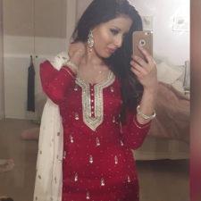 British Indian Girl Nude Taking Hot Selfie