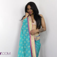 Horny Lily Indian Porn Star Filmed Naked Wearing Sari