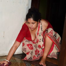 Indian Bhabhi Big Boobs Filmed By Husband Cleaning Floor