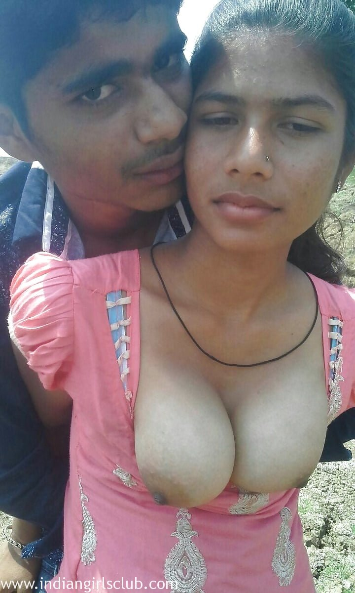 Nude indian girl in outdoor