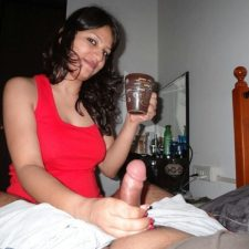 Very Horny Indian Wife Giving Blowjob On Her Honeymoon Night Sex