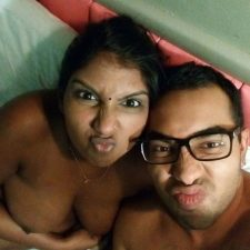Srilankan Bhabhi With Husband On Vacation In Hotel Naked