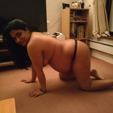 Hairy Pregnant Indian Bhabhi Bend Over Showing Big Ass