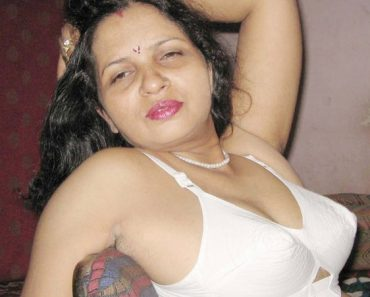 Hot North Indian Bhabhi White Lingerie Striptease